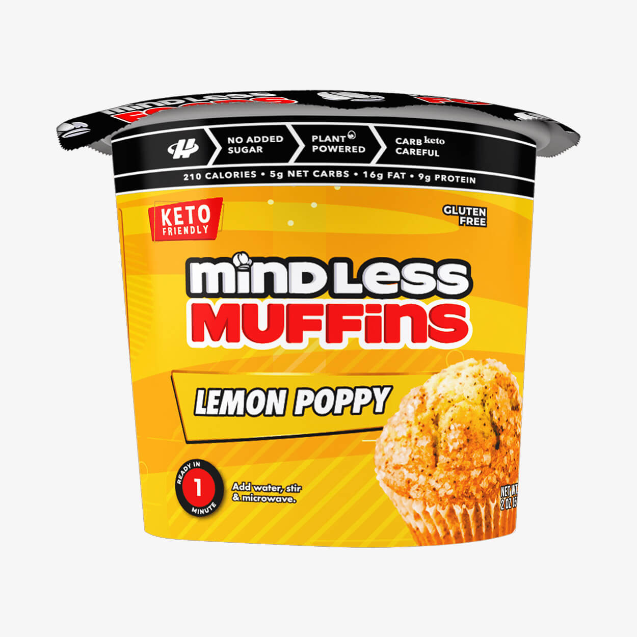 Lemon Poppy Muffin - Mindless Foods - Halo Healthy Tribes