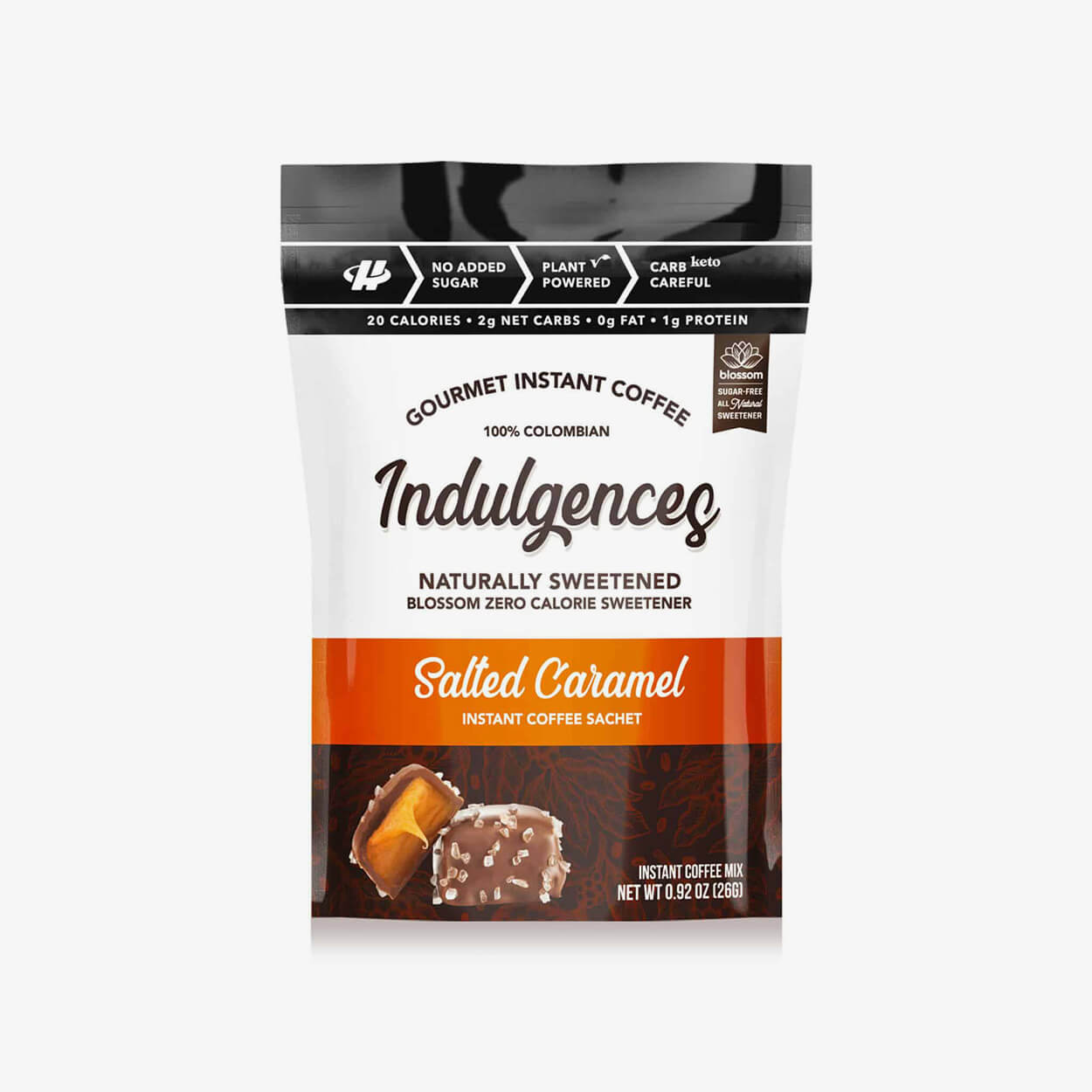 Salted Caramel Instant Coffee - Indulgences - Halo Healthy Tribes