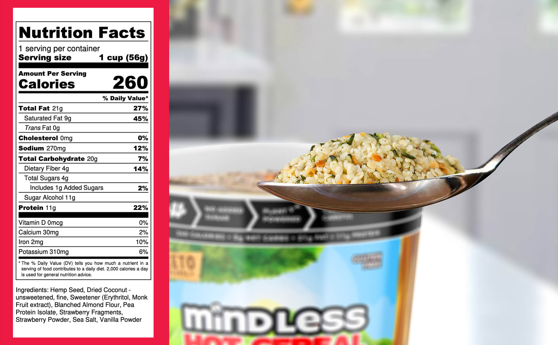 Mindless Foods Keto Strawberry Cereal