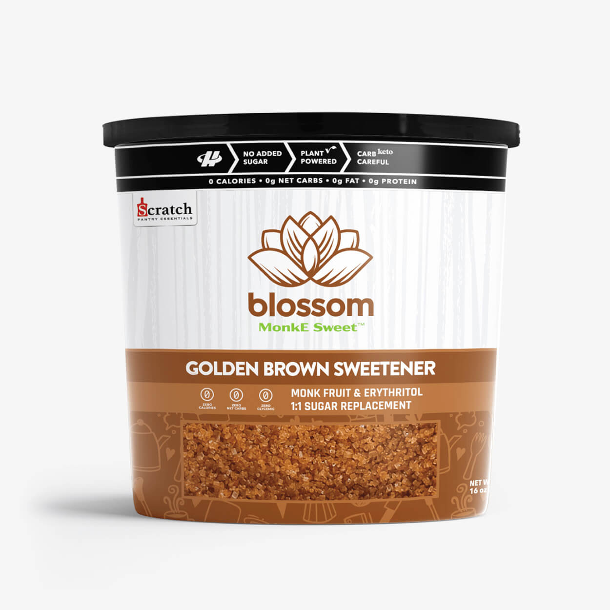 Blossom Golden Brown Monk Fruit Sweetener - Halo Healthy Tribes