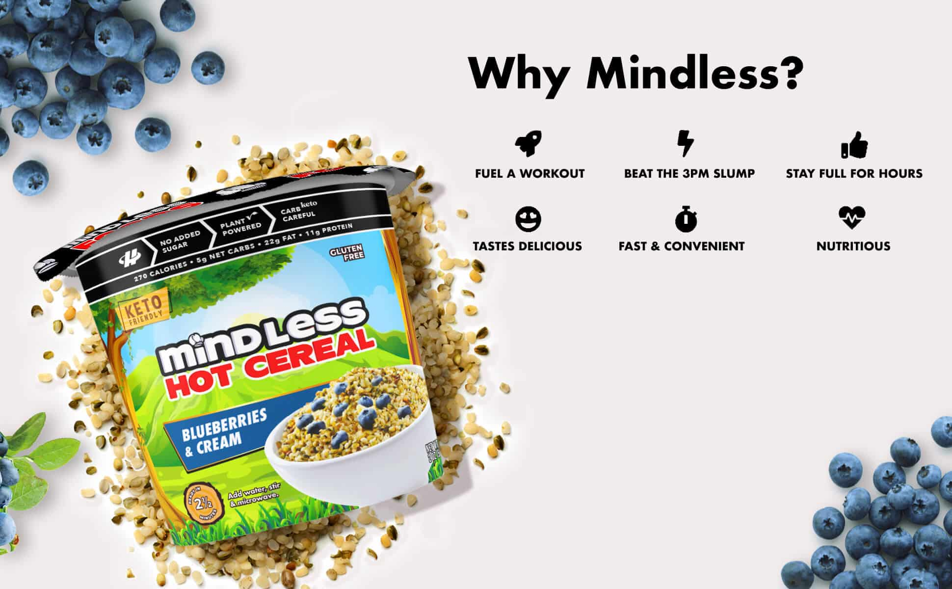 Blueberry Cereal Mindless Foods