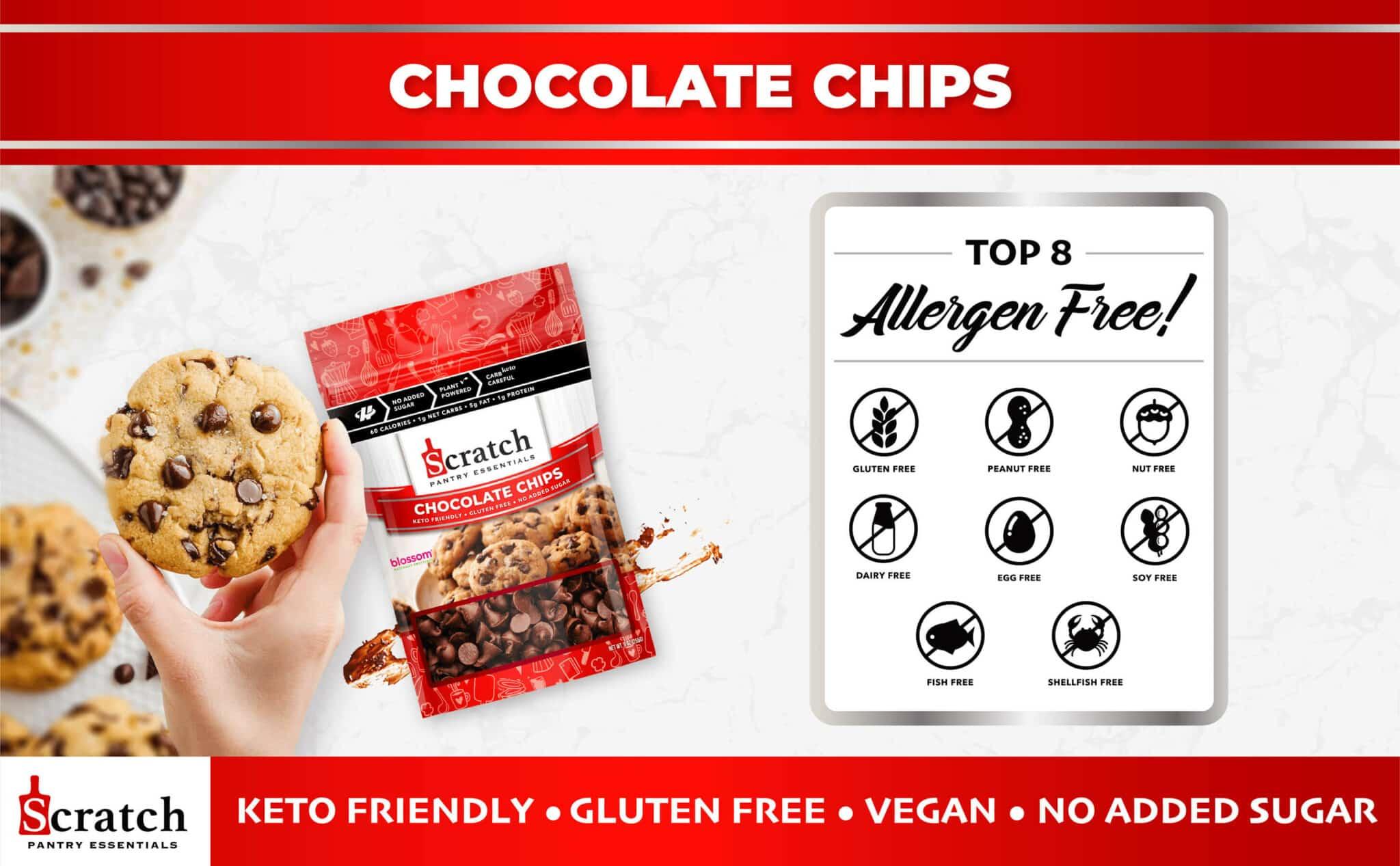 Keto, Sugar Free Chocolate Chips