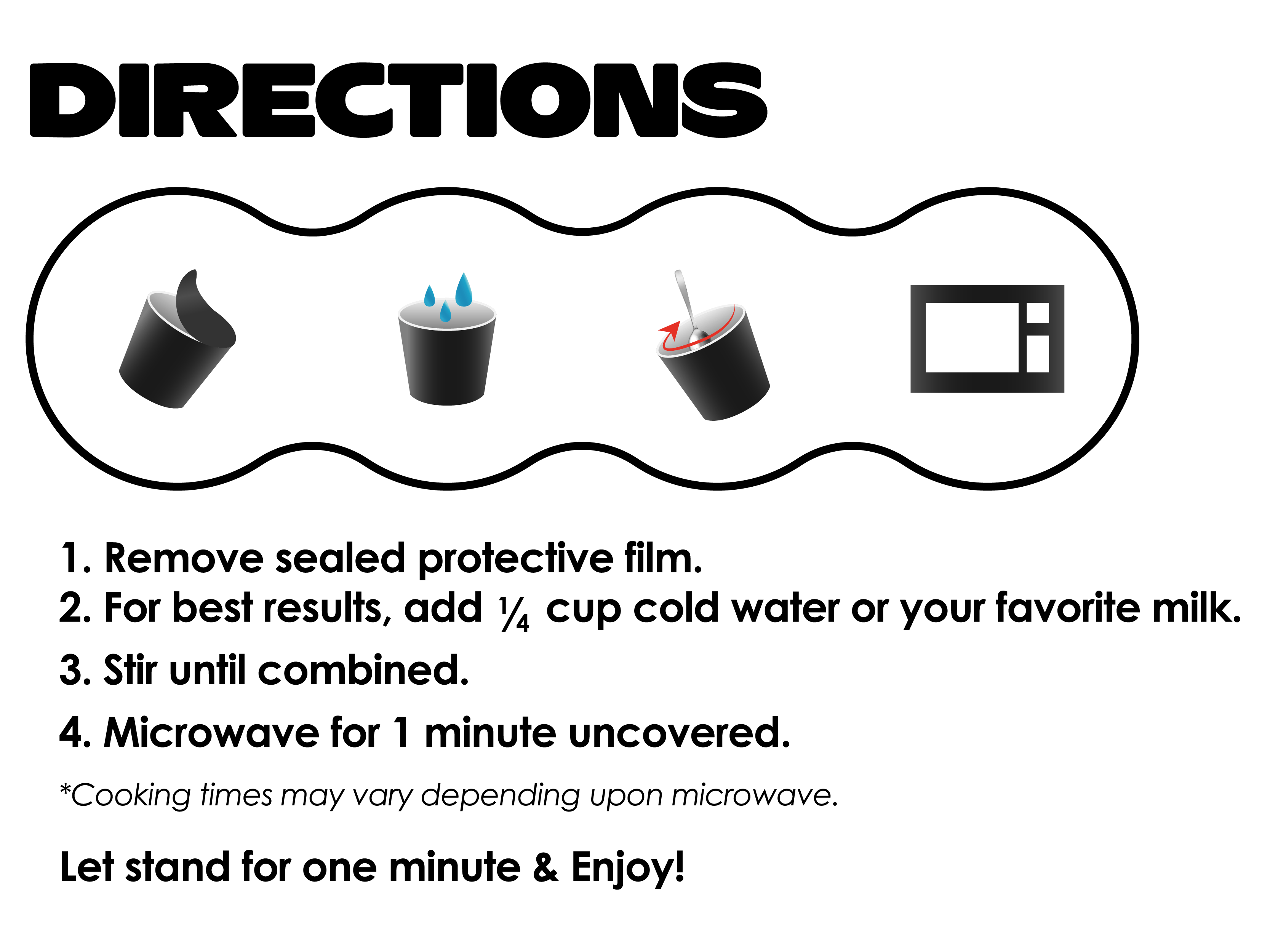Mindless Cereal and Muffins Directions